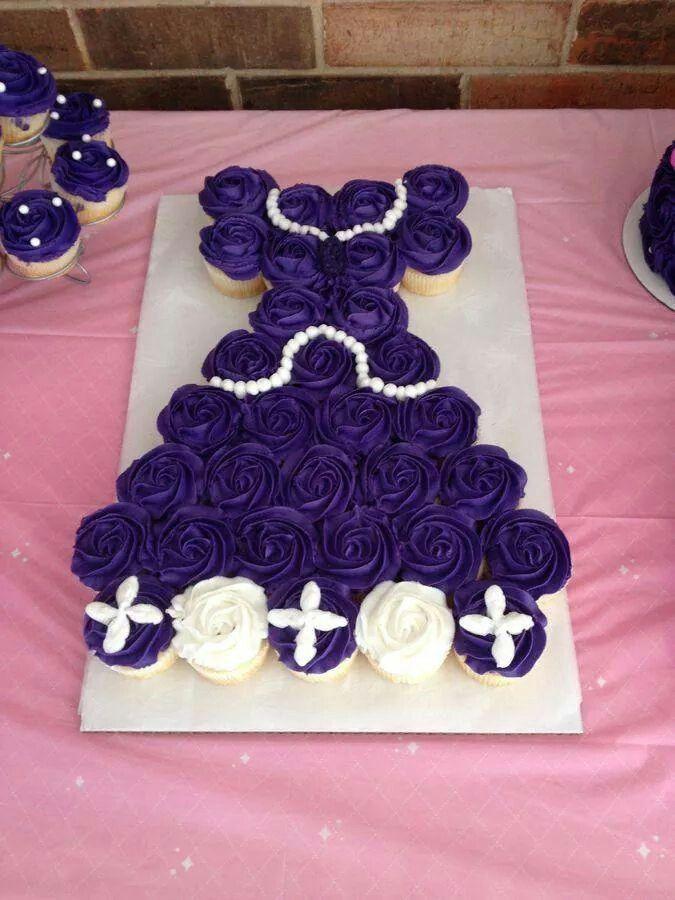 Princess Cupcake Cake Images : Princess Dress Cupcakes Party time ideas Pinterest