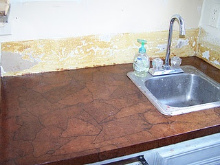 brown paper bag counter top for the home