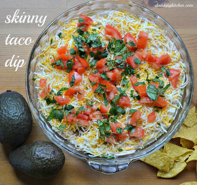 Skinny Taco Dip (By Shrinkingkitchen)