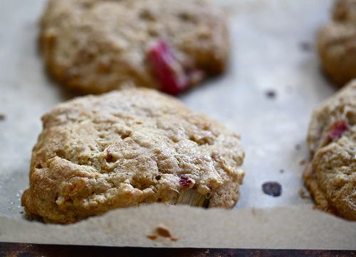 Whole wheat strawberry-rhubarb scones--I'm sure I will be getting ...
