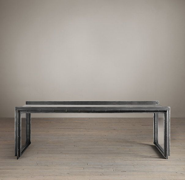 Glass Iron Coffee Table Restoration Hardware Living P