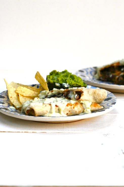 Grilled burrito with a creamy jalapeño dressing! Perfect for Cinco de ...