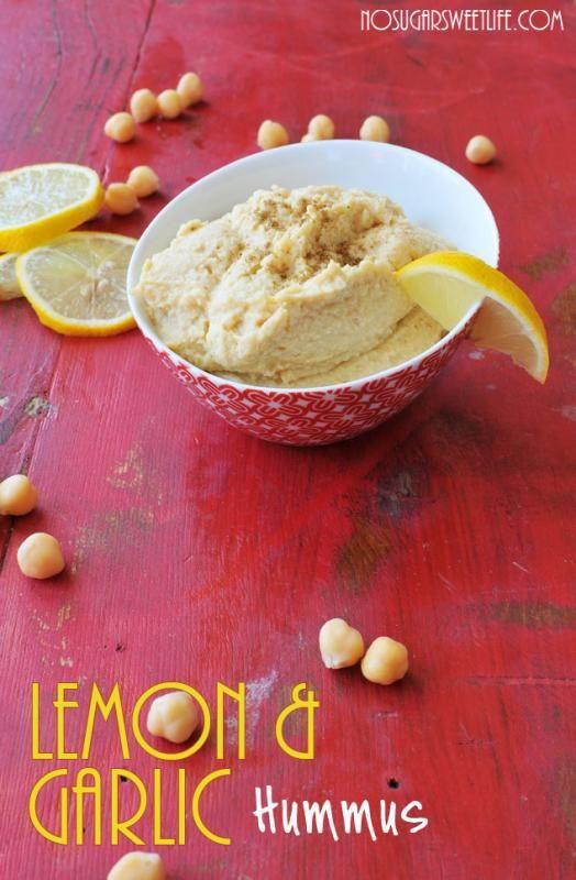 Lemon Garlic Hummus using tofu...cuts a ton of calories from the ...