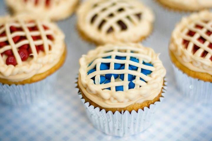 Pie topped cupcakes
