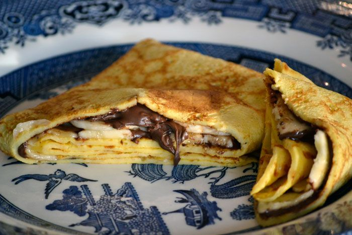 banana nutella crepes - I actually used my usual crepe batter and ...