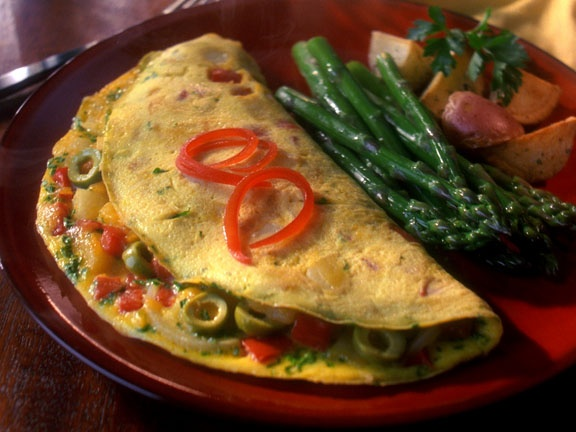 Spanish Omelet with Olives & Red Pepper | Recipe