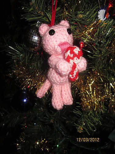 Christmas Ornament Crochet Pattern for Cat