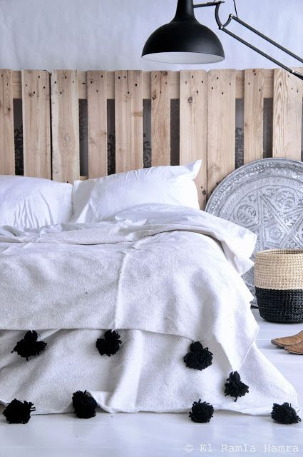 Maison Malou loves moroccan pom pom blankets. You can buy them here: www.ByMalou.no