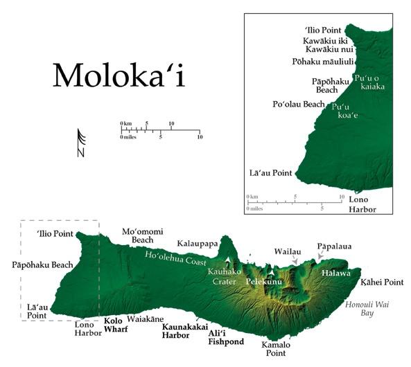 Molokai Map  Molokai  Pinterest