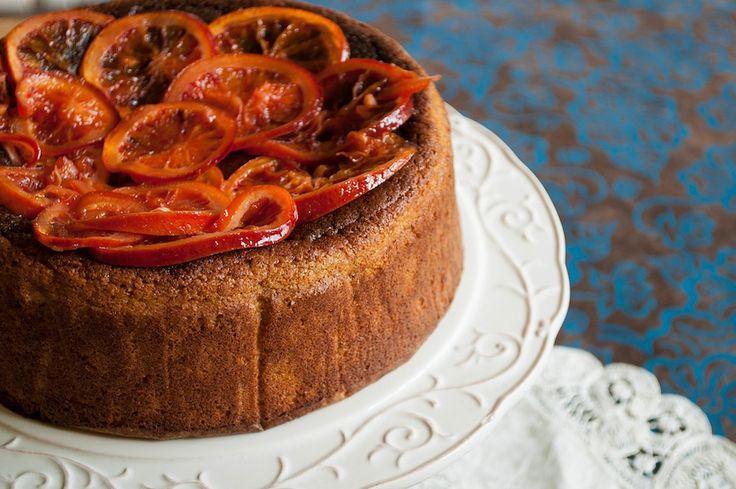 Hazelnut honey and orange cake with orange blossom custard (flour less ...
