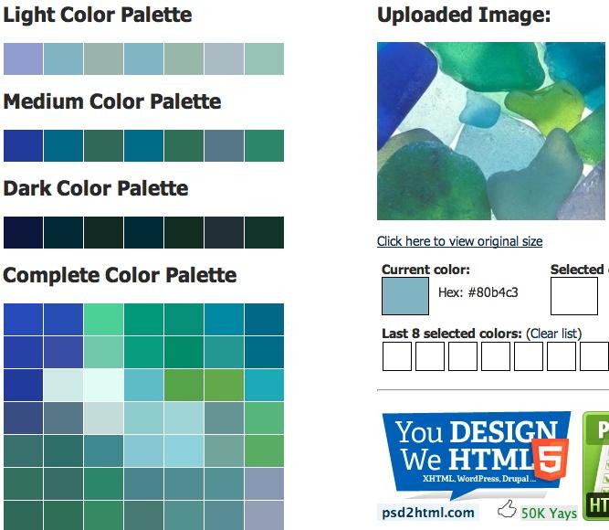 sea glass css palette color inspiration