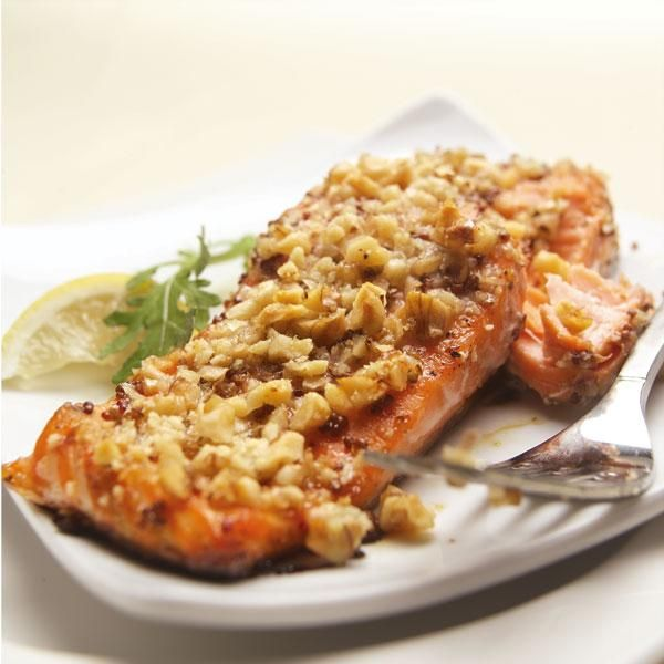 salmon with basil butter quick and easy pecan crusted dijon salmon ...