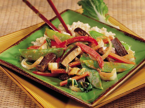 ... eggplant: Steamed Chinese Vegetables with Brown Rice in Peanut Sauce