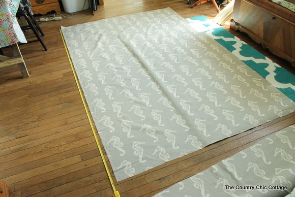... Curtains -- a tutorial for sewing long straight line drapes for your