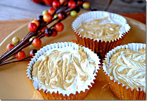 Mini Pumpkin Swirl Cheesecakes | recipes to try | Pinterest