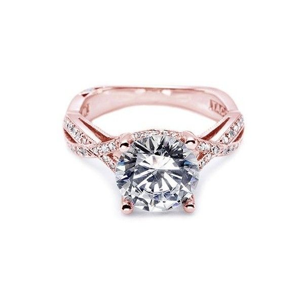 Tacori Rose Gold Engagement Rings desires of my heart