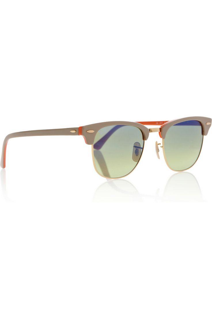 Clubmaster half-frame acetate sunglasses