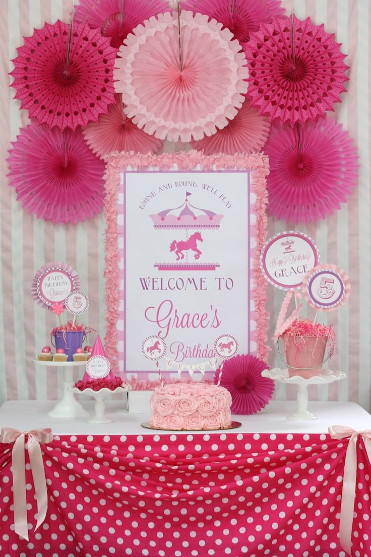 We Heart Parties: Party Information - Carousel Birthday Party
