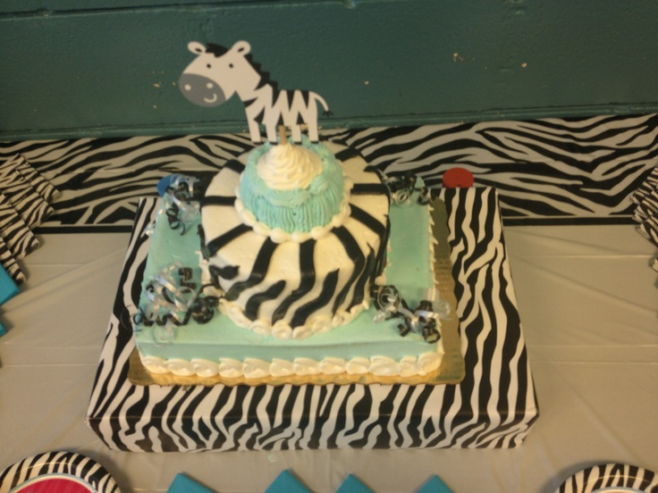 zebra baby shower cake from publix
