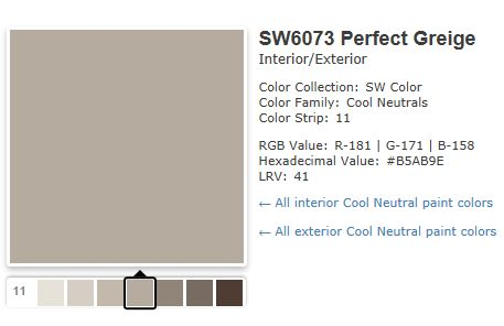 This Site Contains All Info About Perfect Greige SW 6073 Neutral Paint Color Sherwin