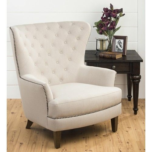 Jofran Conner Ch Natural Oversized Wing Back Accent Chair