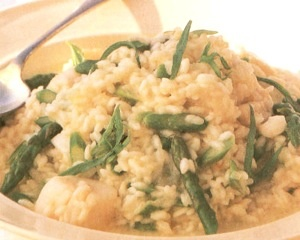 Risotto with asparagus and bay scallops | ya gotta eat- and DRINK | P ...