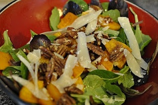 Roasted Butternut Squash Salad with Maple Pecans Buffy & George