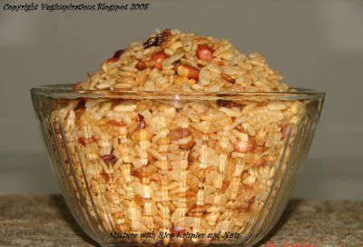 Veg Inspirations: My spin on the Indian chivda (Slightly spicy mixture ...