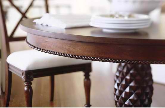 Dining Table With Pineapple Base Island Apartment Pinterest
