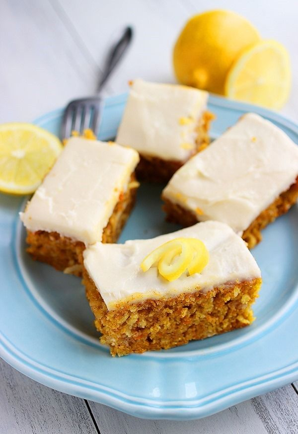Carrot Cake Bars with Cream Cheese Frosting | Recipe