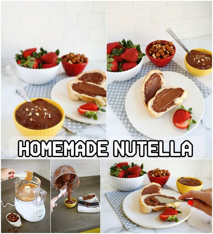 HOMEMADE NUTELLA | Favorite Recipes | Pinterest