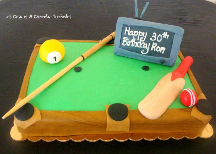 Pool table cakes pinterest for Pool table 6 x 3