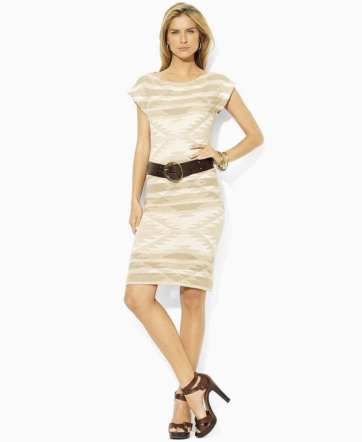 Lauren Jeans Co. Dress, Jasai Cap Sleeve Printed Boatneck Sheath