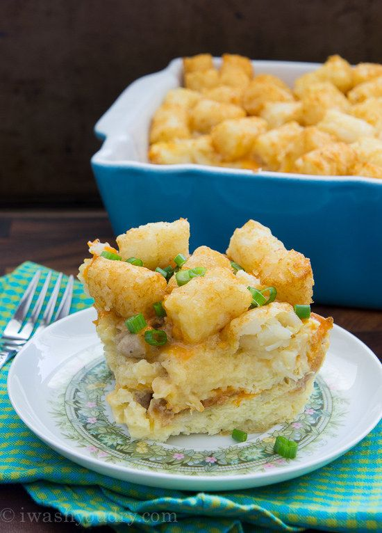 Sausage, Egg & Cheese Tater Tot Breakfast Casserole | 27 ...