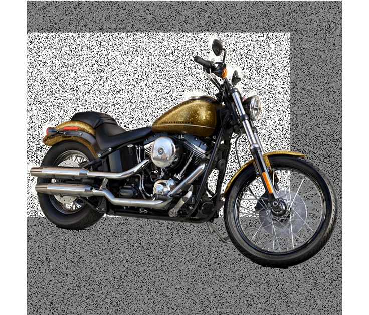 2013 Harley-Davidson® Softail® Blackline® Motorcycles Hard Candy Coloma Gold Flake-Black Anodized Aluminum Profile Laced