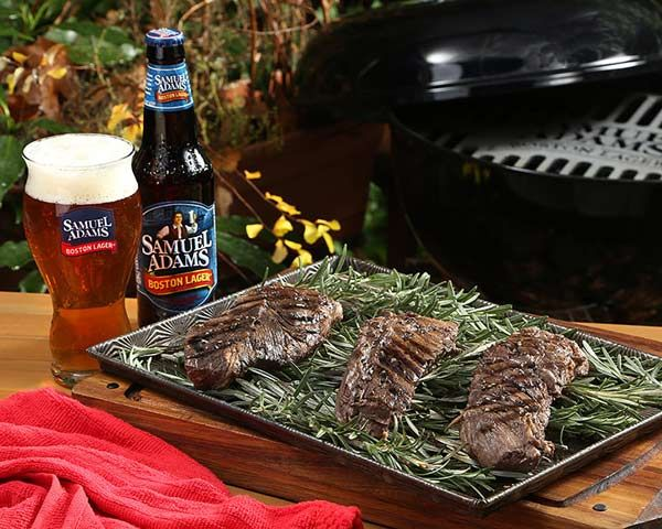 Grilled Samuel Adams Boston Lager Marinated Hanger Steak #craftbeer # ...