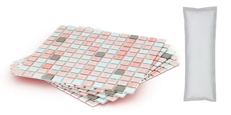diy tile backsplash kit add pack 5ft rose