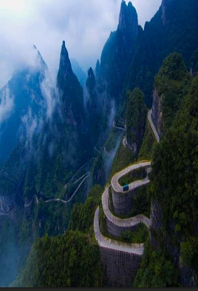 Road to heaven, Tianmen Mountain, Zhangjiajie, in northwestern Hunan Province, China