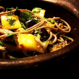 Soba Noodles with Eggplant and Mango by Yotam Ottolenghi. Yum!