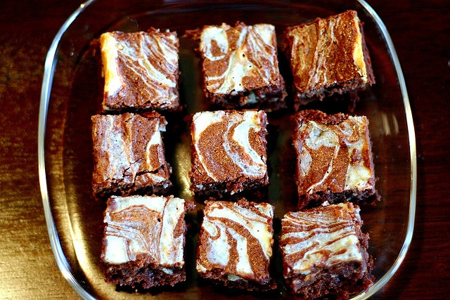 Cream cheese marbled brownies | Baked! | Pinterest