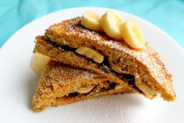... banana and nutella stuffed french toast. (After Passover AND diet