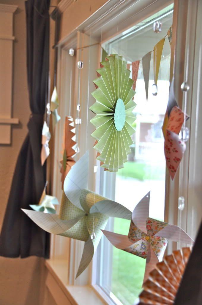 Spring window decor on studio 5 crafts pinterest - Window decorations for spring ...