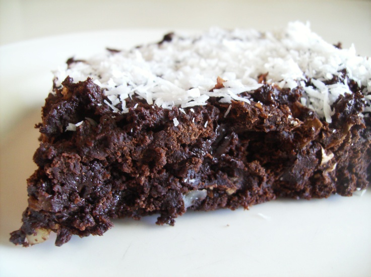 Dark Chocolate And Nutella Coconut Brownies Recipe — Dishmaps