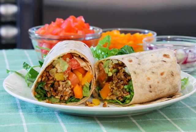 Fiesta Wraps - Get ready to get your Mexican on with these vegan ...
