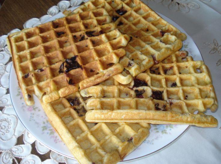 Sour Cream Blackberry Waffles | Mom, what's for BREAKFAST? | Pinterest