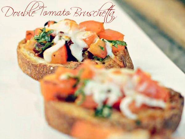 Double Tomato Bruschetta | Food Ideas | Pinterest
