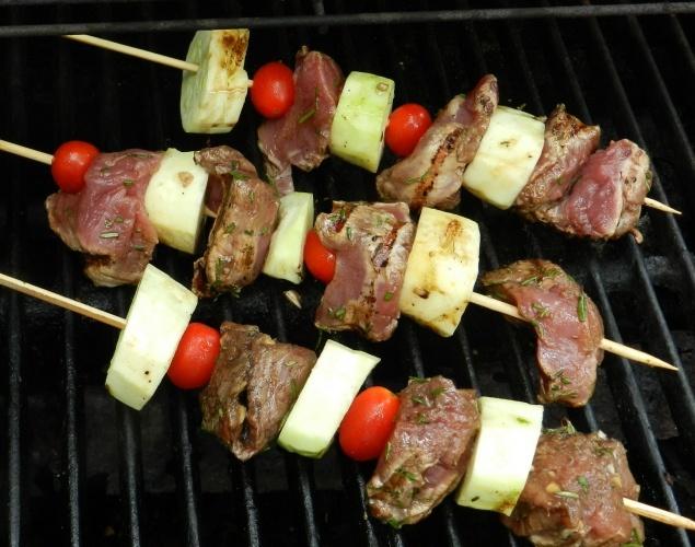 Grilled Balsamic Pork Kebabs | Food | Pinterest