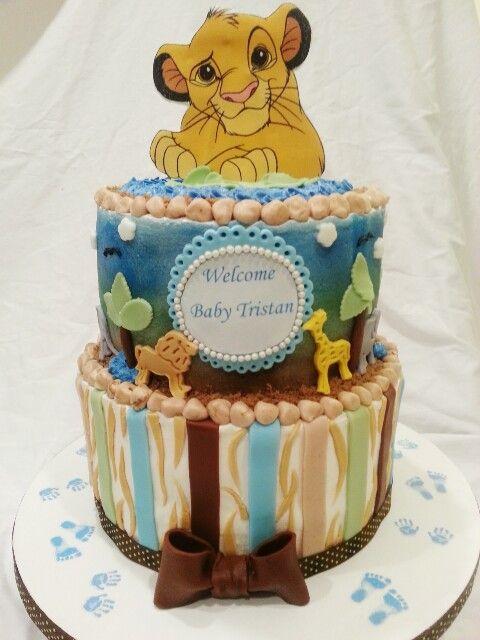 lion king baby shower cake delicate creations custom cakes pinter