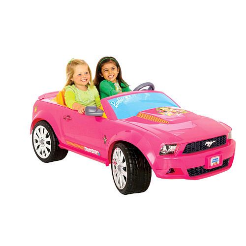 Fisher price barbie ford mustang power wheels car for Fisher price motorized cars