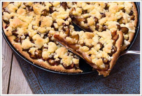 Streusel Plum Tart with Yeast Dough | Tarts | Pinterest